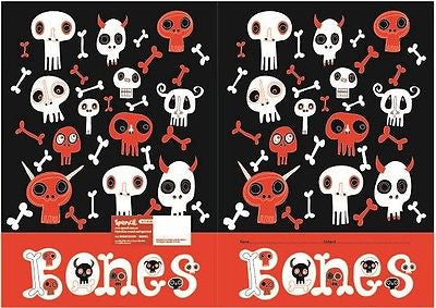 Spencil Bones Exercise School Book Cover A5 - BumpsieDaisy