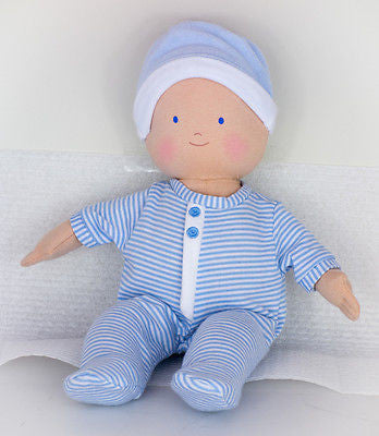 New Bonikka Soft Ragdoll Baby Boy Doll Toy Blue 32cm 0m+ - BumpsieDaisy