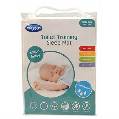 BN Playgro Cotton Jersey Waterproof Toilet Training Sleep Mat Mattress Protector - BumpsieDaisy