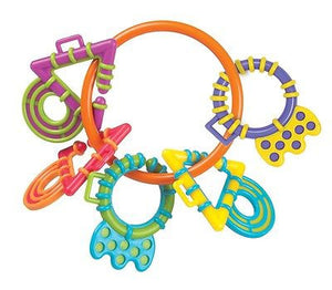 New Playgro My First Chewy Links Teether Rings Baby Toy - BumpsieDaisy