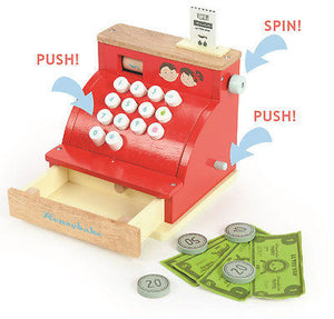 New Le Toy Van Honeybake Shop Cash Register Wood Wooden Till Pretend Play - BumpsieDaisy