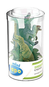 New Papo Mini Tub 6 Dinosaurs P33019 - BumpsieDaisy