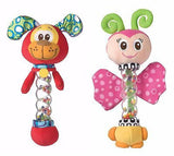 Brand New Playgro Twinkle Stick Rattle Baby Toy Butterfly & Puppy Available - BumpsieDaisy