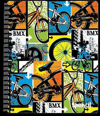 Spencil BMX Bike A4 School Display Book 20 Plastic Pockets - BumpsieDaisy