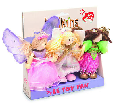 New Le Toy Van Budkins Fairy Dolls Triple Pack Fleur Skye & Summer - BumpsieDaisy