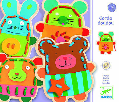 Brand New Djeco Cuddly Lacing Wooden Toy 2yrs+ - BumpsieDaisy