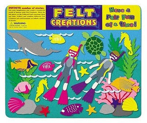 NEW Felt Creations Aquatic Underwater Sea Ocean Diving Scene Puzzle Felt Board - BumpsieDaisy