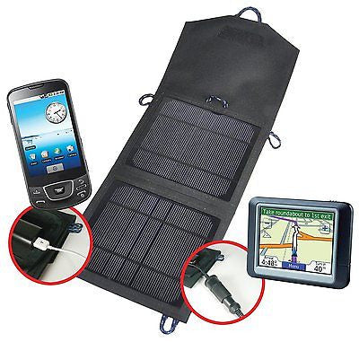 New Coleman Weatherproof 7.5W Folding Solar Panel Charger Ideal Camping Mobile - BumpsieDaisy