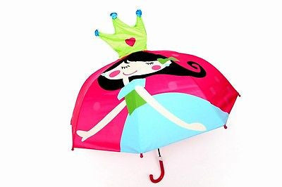NEW Princess Design Childrens Girls Kids Umbrella Pop Up Crown - BumpsieDaisy