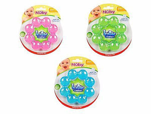 Brand New Nuby Icybite Ring Teether 3m+ BPA Free - Avail Pink, Green or Blue - BumpsieDaisy