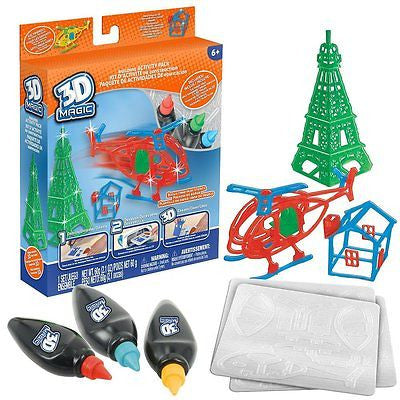 NEW 3D Magic Maker Mega Theme Pack Construction & Vehicle Accessories Set - BumpsieDaisy