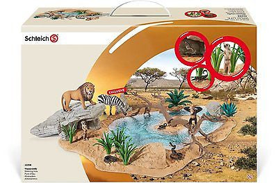 New Schleich Wild Life Watering Hole Africa incl Animals & Exclusive Zebra 42258 - BumpsieDaisy