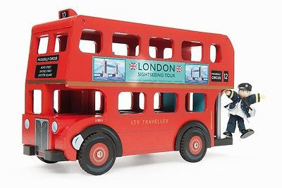 New Le Toy Van London Bus with Driver Budkin Doll - BumpsieDaisy