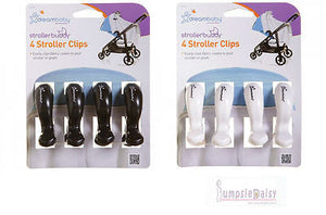 Dreambaby Stroller Pram Pegs Clips 4 Pack White or Black keep shade attached - BumpsieDaisy