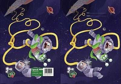 Spencil Space Exercise School Book Cover A5 - BumpsieDaisy