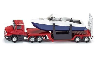 NEW Siku Low Loader Truck with Boat Die Cast Toy Car 1613 - BumpsieDaisy