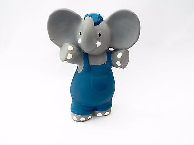 New Bonikka Alvin the Elephant All Rubber Squeaker Baby Teether Teething Toy 0m+ - BumpsieDaisy