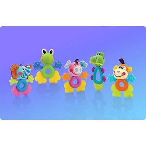 New Nuby Fun Pal Teether Choice of Frog Pig Crocodile Elephant 3m+ Funpal - BumpsieDaisy
