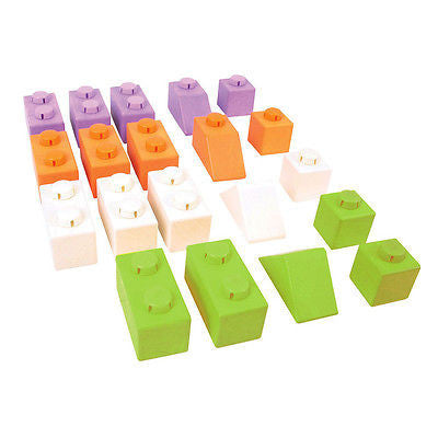 NEW Bigjigs Wooden Click Blocks Zesty Colours Basic Pack 20pcs - BumpsieDaisy