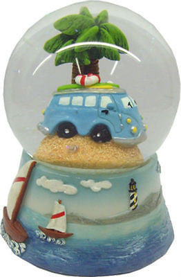 NEW VW Volkswagen Blue Combi Kombi Surfy Van Waterball Snowglobe 65mm - BumpsieDaisy
