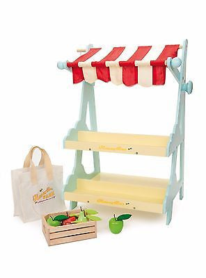 New Le Toy Van Honeybake Honeybee Market Stall & Fruit Crate Wood Pretend Play - BumpsieDaisy