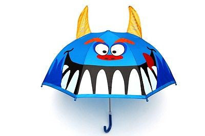 NEW Monster Design Childrens Boys Kids Umbrella Pop Up Horns - BumpsieDaisy