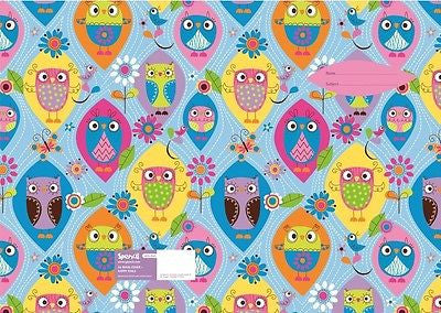 Spencil Happy Owls Scrapbook School Book Cover