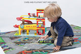 Le Toy Van Dino's Car Garage Wooden Toy Dinos Includes Car - BumpsieDaisy