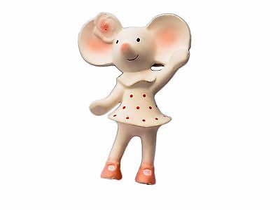 New Bonikka Meiya the Mouse All Rubber Squeaker Baby Teether Teething Toy 0m+ - BumpsieDaisy