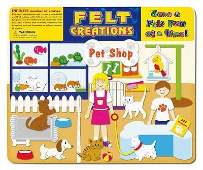NEW Felt Creations Pet Shop Animals Dog Cats Puzzle Felt Story Board - BumpsieDaisy