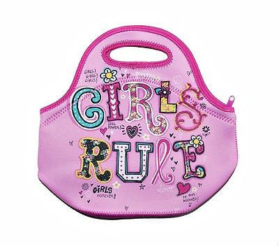 Spencil Girls Rule Neoprene School Lunch Bag with zip & handles - BumpsieDaisy