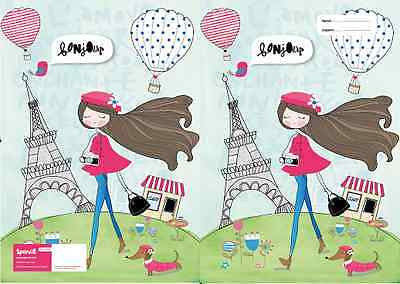 Spencil Paris Girl A4 School Book Cover - BumpsieDaisy