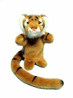 New Korimco Plush Longtail Gold Tiger Puppet 25cm - BumpsieDaisy