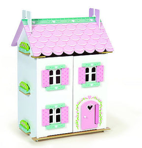 NEW Le Toy Van Sweetheart Cottage Wooden Dolls House with Furniture - BumpsieDaisy