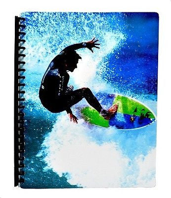 Spencil Surfer Surf Surfing A4 School Display Book 20 Plastic Pockets