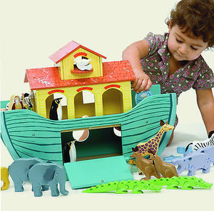 Brand New Le Toy Van Noah's Great Ark Wooden Toy with 10 Pairs of Animals Noahs - BumpsieDaisy
