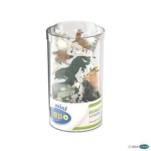 Brand New Papo Mini Tub Farm Animals Horses Pigs Goats P33015 - BumpsieDaisy