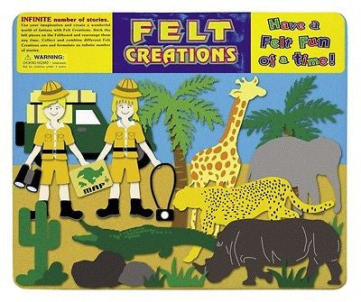 NEW Felt Creations Safari African Animal Explorer Scene Puzzle Felt Board - BumpsieDaisy