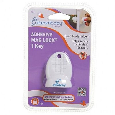 New Dreambaby Adhesive Mag Lock Key Magnetic Cabinet Drawer Baby Safety Dream - BumpsieDaisy