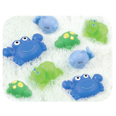 NEW Playgro 8 Boys Squirtees Buddies Bathtime Fun Squirt Water Play Squirtee - BumpsieDaisy