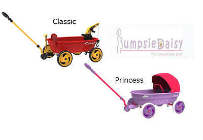 NEW Eurotrike Cargo Pull Along Steel Wagon Available Classic Wagon & Princess - BumpsieDaisy