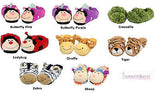 NEW Korimco Kids Soft Slippers Ladybug Croc Butterfly Giraffe Tiger Zebra Sheep - BumpsieDaisy