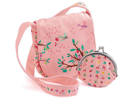 New Djeco Girls Cloth Bag & Purse Boxed Gift Set Summer Garden Design - BumpsieDaisy