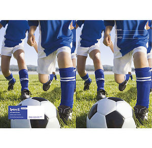 Spencil Soccer Football Exercise School Book Cover A5 - BumpsieDaisy