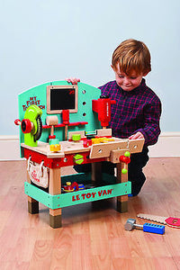 NEW Le Toy Van My First Tool Work Bench Incl Tools Wooden Wood Toy - BumpsieDaisy