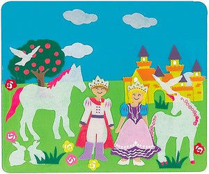 NEW Felt Creations Prince Princess Castle Horse Unicorn Scene Puzzle Felt Board - BumpsieDaisy