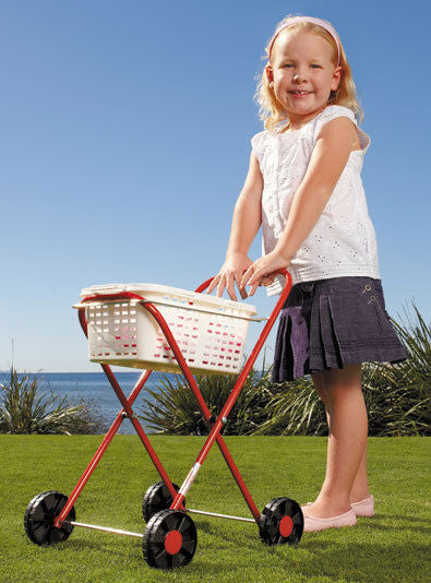 NEW Orbit Pegs N Play Childrens Galvanised Metal Clothes Trolley & Basket - BumpsieDaisy