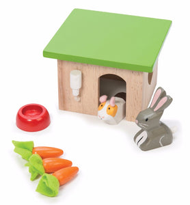New Le Toy Van Bunny Rabbit & Guinea Pig with House Pet Accessory Set Wooden Toy - BumpsieDaisy