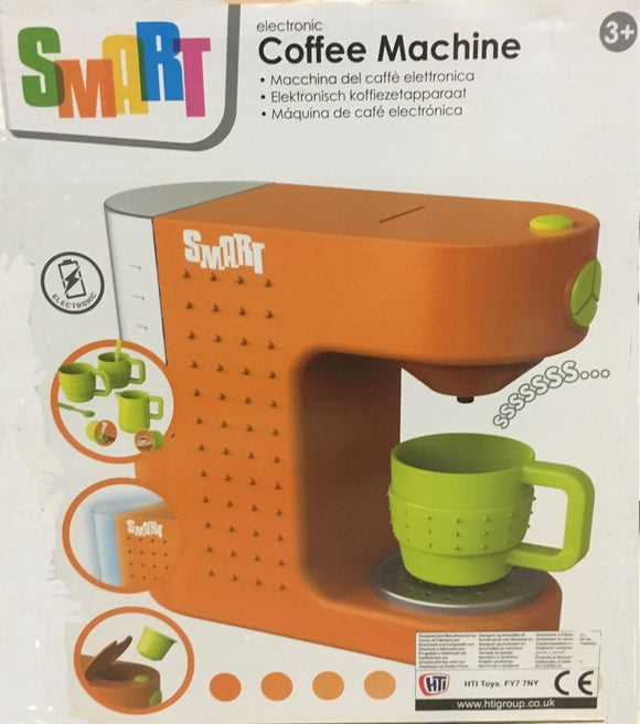 New Smart Electronic Coffee Machine Toy Includes Cups Lights & Realistic Sounds - BumpsieDaisy
