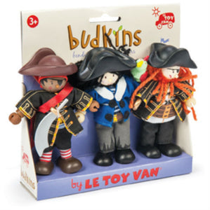 Le Toy Van Budkins Buccaneer Pirate Dolls Triple Pack - BumpsieDaisy